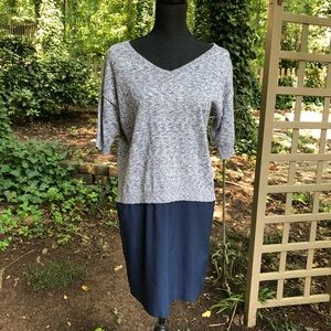 French Connection Blue Sweater dress size 4